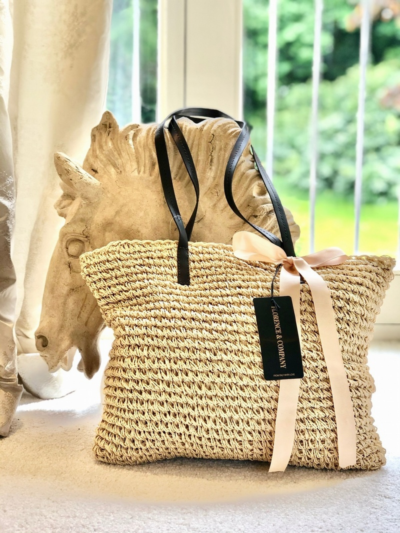 Raffia Weave Tote Bag Blonde