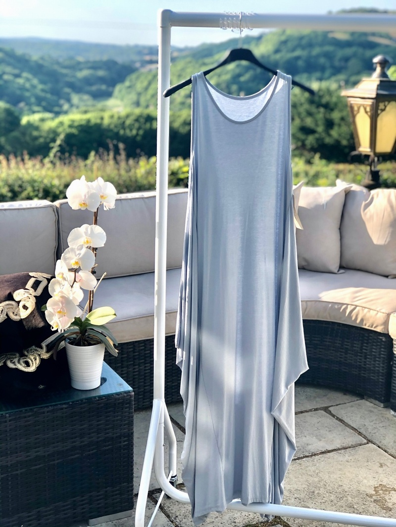 Beautiful Simple Dress Dove Grey