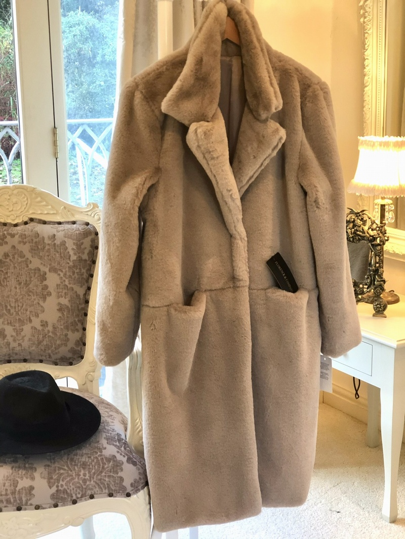 Luxurious Plush Teddy Coat Light Mocha