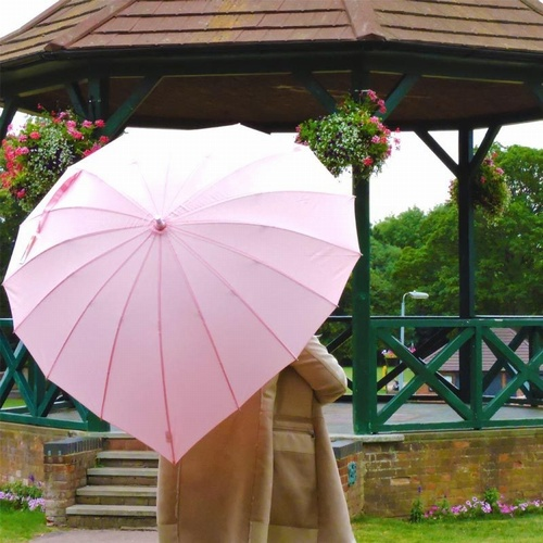 Love heart umbrellas pale pink