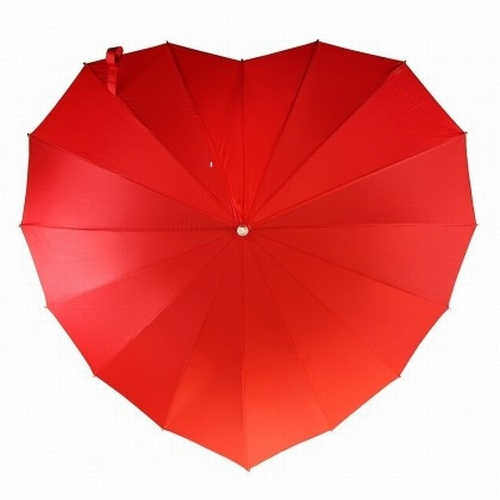 Love heart umbrellas lipstick Red