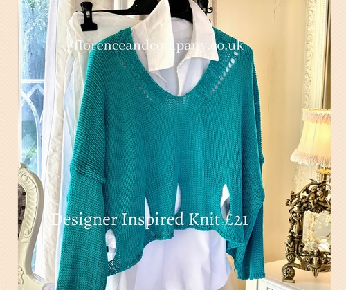 New Season Designer Inspired Layering Knit Marine