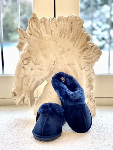 Luxury Slippers Navy